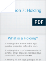 Legal Writing- Session 7 on Holding of the Court