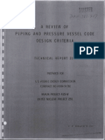 Review of pressure vessel code design criteria