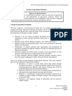 Concept of Agricultural Extension (01)
