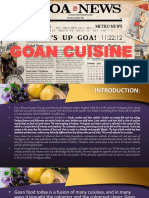 Cuisine of Goa by Chef Sachin