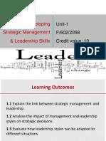 Developing Strategic Management and Leadership Skills 2015