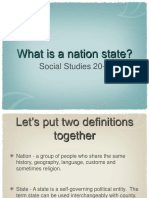 Lesson 4 - What is a Nation State