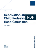 Deprivation Child Pedestrian Road Casualties