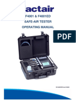 F4001ED Safe-Air Tester Manual