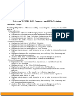 Ericsson WCDMA Counters and KPIs Training - V1