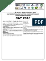 CAT 2018 Advertisement