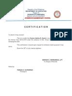 Certification Zyrene Ashley