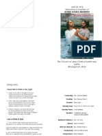Baptism Program