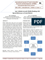 A Study on Customer Attitude towards Mobile Banking with Special Reference to Erode District
