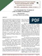 Kanthapura as a Postcolonial Text