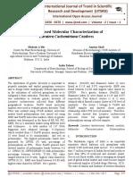 RAPD based Molecular Characterization of Lavatera cachemiriana Cambess