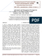 Water Quality Requirements and Management Strategies for Fish Farming (A Case Study of Ponds Around Gurgaon Canal NUH Palwal)