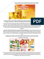 Apa Beda Investasi Emas Public Gold Indonesia Dengan Malaysia
