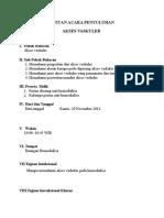 Revisi Sak Akses Vaskuler