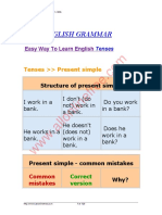 Easy English Grammar Tenses