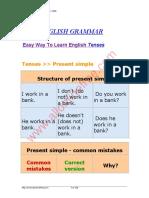 Easy English Grammar Tenses