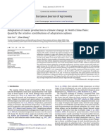 Adaptation of Maize Production to Climate Change in North China Plain Quantify the Relative Contributions of Adaptation OptionsOriginal Research Article