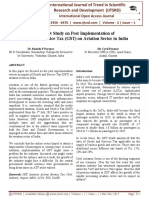 A Review Study on Post Implementation of Goods and Service Tax (GST) on Aviation Sector in India
