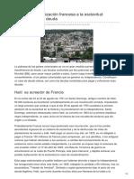Elsaltodiario.com-Haití de La Colonización Francesa a La Esclavitud Económica de La Deuda