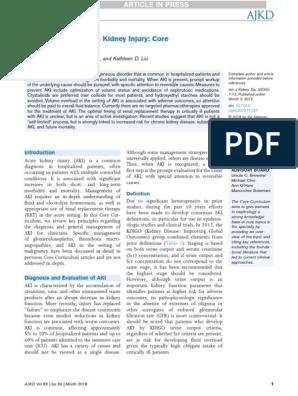Management of Acute Kidney Injury: Core Curriculum 2018