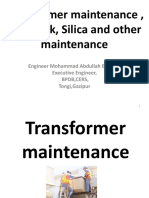Maintenance of transformers.pptx