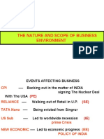 The Nature and Scope of Business Environment