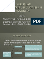 Kuliah Vi Hukum Islam Dan Kontribusi Umat Islam Indonesia Ok