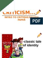 Literary Criticism Lesson