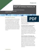 IoT Forrester Wave IoT Software Platforms November 2016