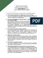 ESPECIFICACIONES TÉCNICAS RED DE ACCESO