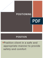 Therapeutic Positions for Patient