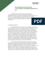 A Tomada de Decisão de Políticas Públicas e as Visões Contemporâneas Da Democracia