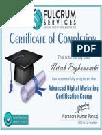 Digital Marketing Certificate of Nitesh Raghuwanshi from SEOsurfer