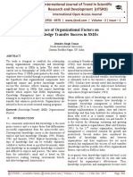 Influence of Organizational Factors on Knowledge Transfer Success in SMEs