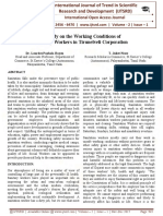 A Study on the Working Conditions of Sanitary Workers in Tirunelveli Corporation