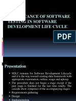Significance of Software Testing in Software Development Life