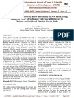 Understanding the Poverty and Vulnerability of New and Existing Clients of ESAF Microfinance with Special Reference to Thrissur and Palakkad District, Kerala, India