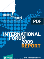 Peace Sport Report Guide Forum2009