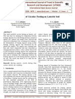 Modelling of Circular Footing on Lateritic Soil
