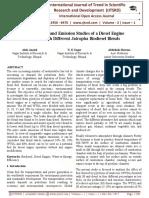 Performance and Emission Studies of a Diesel Engine Fuelled with Different Jatropha Biodiesel Blends