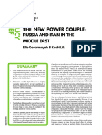 Ecfr 186 - The New Power Couple Russia and Iran in the Middle East PDF