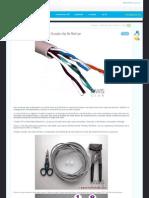 Tutorial Construir Un Cable Cruzado Utp de Red Lan