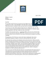 Leffler Hitchcock Resignation Letter From Miller Center July 30 2018