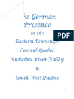 The German Presence in the Eastern Townships