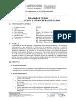 SÍLABO ALGORITMOS Y ESTRUCTURAS DE DATOS 2017-2.docx
