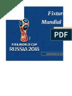 Fixture Mundial Rusia 2018 4 Unprotected