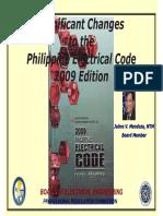 PEC2009 Significant Changes