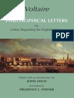 [Voltaire] Philosophical Letters or, Letters Rega