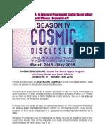 Dezvăluire Cosmică Sezonul 3 și 4