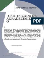 Certificado de Agradecimiento
